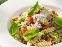 Fusilli with Zucchini, Tomato and Basil recipe