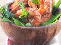 Gambas with Parsley and Chervil recipe