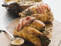 Game Bird Wrapped with Baon recipe