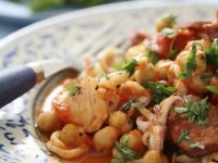 Garbanzo and Seafood Stew recipe