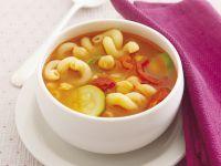 Garbanzo Bean and Macaroni Soup recipe