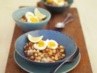 Garbanzo Bean Salad with Egg Halves recipe