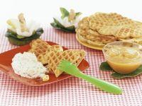 Garden Herb Waffles with Applesauce recipe