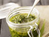 Garlic Leaf and Walnut Pasta Sauce recipe