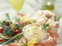 Garlic Mayo with Seafood Platter recipe
