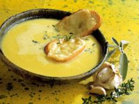 Garlic Soup with Cheese Toasts recipe