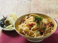 Garlic Spaghetti with Tomato recipe