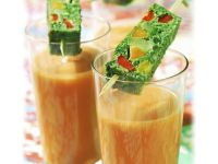 Gazpacho with Vegetable Terrine recipe