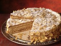 German Almond Cake with Coffee Custard recipe