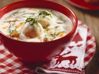 German Ganslsuppe (Creamy Goose Soup and Dumplings) recipe