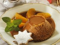 Gingerbread Puddings with Chocolate Sauce recipe