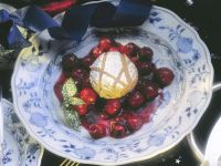 Gingerbread Souffle with Cherry Compote recipe