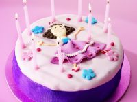 Girls Birthday Cake with Candles recipe