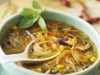 Glass Noodle Soup with Corn and Shiitake Mushrooms recipe