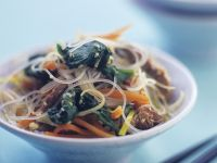 Glass Noodles with Beef and Vegetables recipe