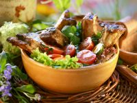 Glazed Barbecue Ribs with Mixed Salad recipe