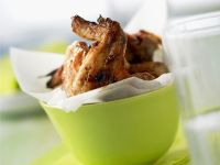 Glazed Barbecue Wings recipe