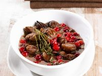 Glazed Chestnuts with Cranberries recipe