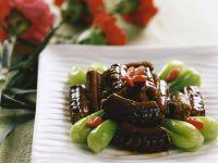Glazed Eel with Bok Choy recipe