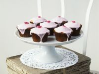 Glazed Lemon and Rose Cupcakes recipe
