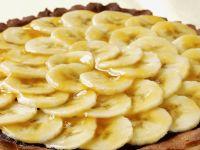 Glazed Mocha and Banana Tart