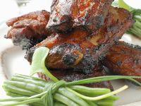 Glazed Pork Ribs with Green Beans recipe