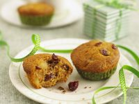 Gluten Free Apple, Cranberry and Cinnamon Muffins recipe