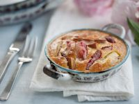 Gluten Free Baked Rhubarb Pudding recipe