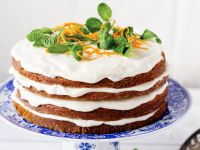Gluten Free Carrot and Cream Cheese Layer Cake recipe