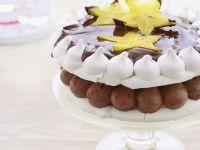 Gluten Free Chocolate and Vanilla Meringue Dessert recipe