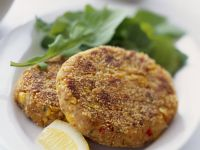 Gluten Free Corn and Chickpea Rissoles recipe