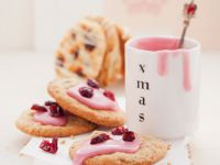 Gluten Free, Dairy Free Glazed Cranberry Cookies recipe