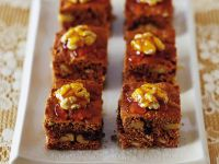 Gluten Free, Dairy Free Spiced Honey Walnut Squares recipe