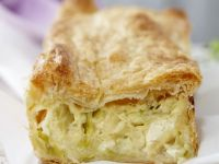 Gluten Free Leek Pastry Slice recipe