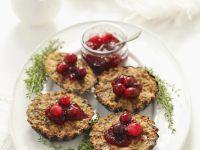 Gluten Free Mushroom and Cranberry Tarts recipe