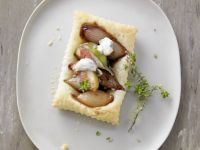 Gluten Free Puff Pastry Balsamic Onion Tarts recipe