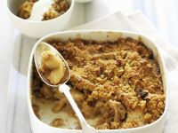 Gluten Free, Sugar Free, Dairy Free Apple and Nut Crumble recipe