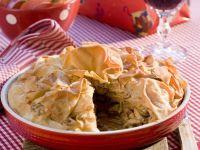 Gluten Free Turkey and Mushroom Pie recipe