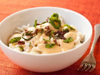 "Gluten-free, Vegan Brown Rice Pasta with ""Cream"" Sauce recipe"