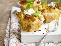 Gluten-free Vegan Pear and Bacon Muffins recipe