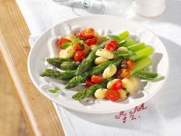 Gnocchi with Asparagus and Cherry Tomatoes recipe