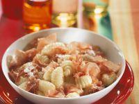 Gnocchi with Cream Sauce recipe