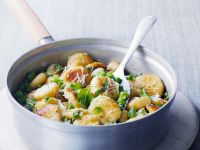 Gnocchi with Peas, Beans and Mint recipe