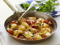 Gnocchi with Tomato, Basil and Marjoram recipe