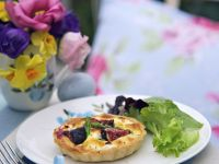 Goat Cheese and Asparagus Tartlets with Figs recipe