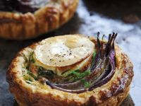 Goat Cheese and Onion Tarts recipe