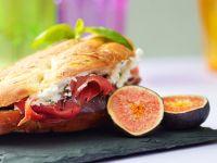 Goat Cheese, Prosciutto and Fig Sandwiches recipe