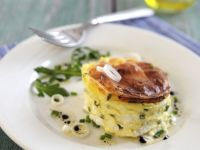 Goat Cheese Souffle with Chives recipe