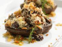 Goat Cheese Stuffed Portabella Mushrooms recipe