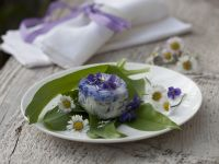 Goat Cheese with Wild Garlic and Edible Flowers recipe